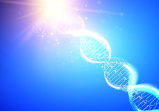 Blue background with DNA. Stock Photography