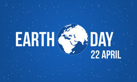 Blue background earth day style Stock Image