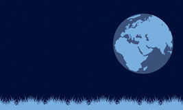 On blue background earth day. Vector illustration Stock Photography