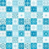 Blue background with ethnic motifs Stock Photo