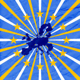 Blue background with european union map Royalty Free Stock Photography