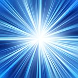 THE BLUE BACKGROUND EXPLOSION STAR SHINE,RAYS DESIGN. Abstract background background beam blue bright burst color design digital effect energy explosion glow Stock Photography