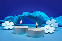 Blue background for festive occasions Royalty Free Stock Image