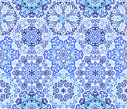 Blue Background Floral Weave Pattern Stock Photos
