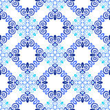 Blue Background Flourish Weave Pattern Royalty Free Stock Images