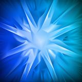 Blue background in the form of snowflakes. Vector Stock Photo