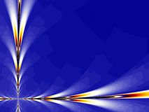 Blue Background Fractal Royalty Free Stock Photo