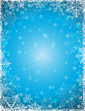 Blue background with  frame of snowflakes,  vector Stock Image
