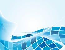 The blue background of geometric shapes Stock Photo