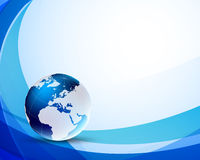 Background with globe Royalty Free Stock Photos