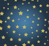 Blue background with gold stars. Can be used for wallpaper, pattern, backdrop, surface textures Stock Illustration