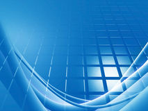 Blue background grid Stock Photo