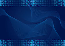 Blue background with halftone effect Stock Photography