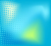 Blue background with halftone elements Royalty Free Stock Photography