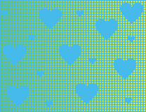 Blue background with hearts Royalty Free Stock Images