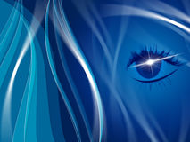 Blue Background Indicates Human Eye And Look Stock Photos