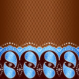 Blue background inspired by Indian mehndi designs Royalty Free Stock Photos