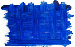 Blue background of intersecting brush strokes Stock Images