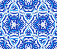 Blue Background Kaleidoscope Star Pattern stock illustration
