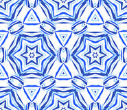 Blue Background Kaleidoscopic Star Pattern Royalty Free Stock Photography