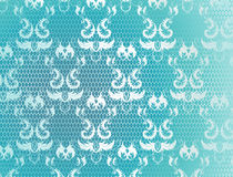Blue background with lace Royalty Free Stock Photography