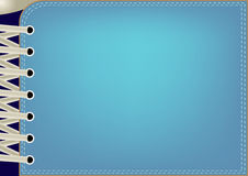 Blue background with lacing Royalty Free Stock Photography