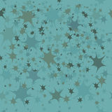Blue background with little stars Stock Photography