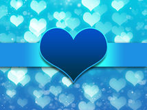Blue background with love heart vector illustration