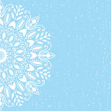 Blue background mandala vector Royalty Free Stock Photos