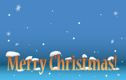 Blue background -  merry christmas with snow - eps Stock Image
