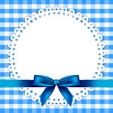 Blue background with napkin Stock Photography