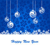 Blue background for new year. And for Christmas Royalty Free Stock Images