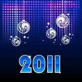 Blue background for new year. And for Christmas Stock Photography
