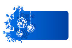 Blue background for new year. And for Christmas Royalty Free Stock Photo