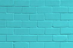 Blue background with old brick wall. Abstract blue background with old brick wall Royalty Free Stock Photography