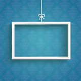 Blue Background Ornaments White Frame Royalty Free Stock Photo