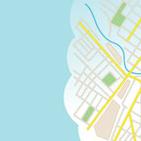 Blue background with part of city map - vector Stock Photos