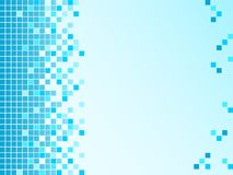 Blue background with pixels Royalty Free Stock Images