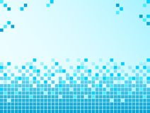 Blue background with pixels Royalty Free Stock Image