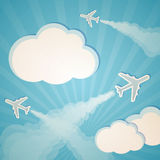 Blue background with planes Royalty Free Stock Photography