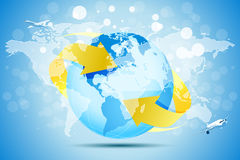 Blue Background with Planet Earth Royalty Free Stock Photography