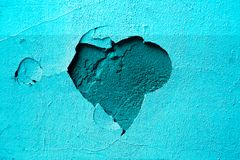 Blue background plaster heart royalty free stock photos
