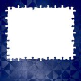 Blue background puzzle frame Stock Photo