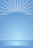 Blue background with radial stripes. Vector illustration Stock Photos