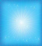 Blue background rays Stock Photos