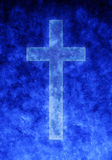 Blue Background Religion Cross Royalty Free Stock Photos