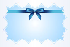 Blue background with ribbon Royalty Free Stock Image