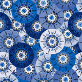 Blue background with round motifs Royalty Free Stock Photography