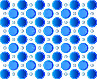 Blue background round shape. vector Stock Images
