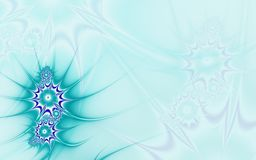 Blue background with sea flowers Royalty Free Stock Photos